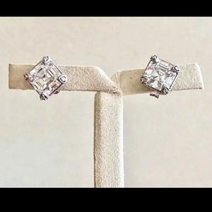 Judith Ripka Sterling Silver Stud earrings
